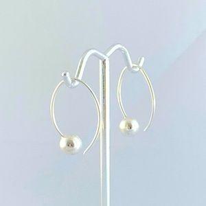 Pretty Sterling Silver Ball Drop Earrings